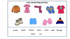 Interactive worksheet Winter Clothing