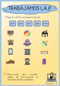 Interactive worksheet La letra p