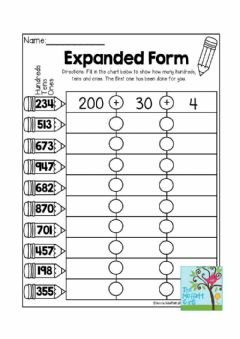 Interactive worksheet Expanded Notation