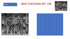 Interactive worksheet Skip count by 100