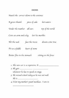 Interactive worksheet Idioms