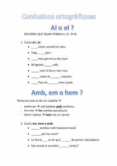 Interactive worksheet Ortografia català