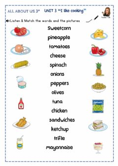Interactive worksheet Food All about us 3º