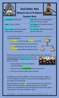 Interactive worksheet The making of laws in The Bahamas