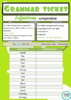 Interactive worksheet Adjectives-Comparative