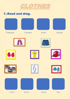 Interactive worksheet Clothes- i-m wearing
