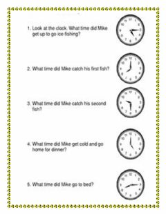 Ficha interactiva Time Word Problems