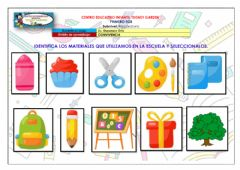 Interactive worksheet Materiales de la escuela