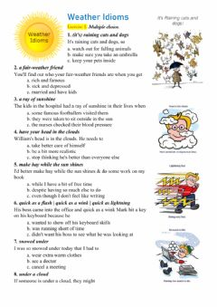 Interactive worksheet Weather Idioms