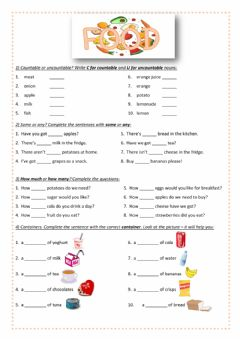 Ficha interactiva Food worksheet