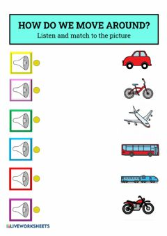 Interactive worksheet How do we move around? Transports