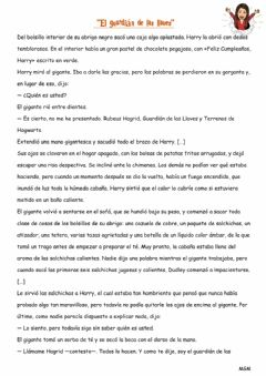 Interactive worksheet Lectura Harry Potter