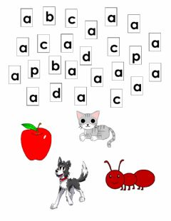 Interactive worksheet Letter a small