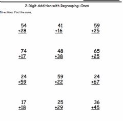 Interactive worksheet Two Digit Addition