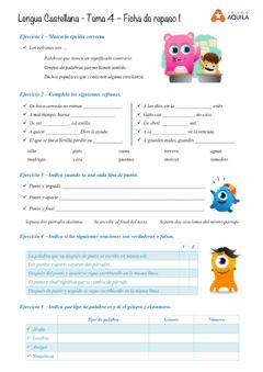 Interactive worksheet Lengua - Repaso
