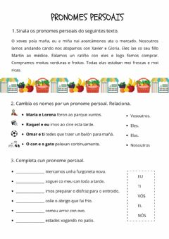 Interactive worksheet Pronomes persoais