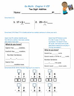 Ficha interactiva Math addition with Regrouping