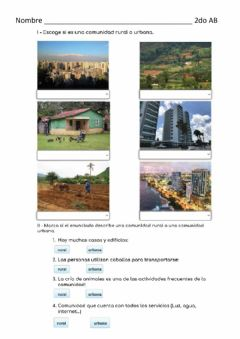Interactive worksheet Comunidad Urbana y Rural