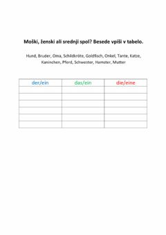 Interactive worksheet Členi