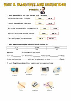 Interactive worksheet Machines