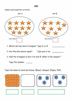 Interactive worksheet Sets