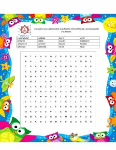 Interactive worksheet Sopa de letras - antonimos