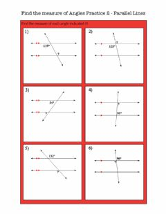 Interactive worksheet Find the measure of an angle - parallel lines 2