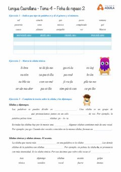 Interactive worksheet Repaso de Lengua - T4-2