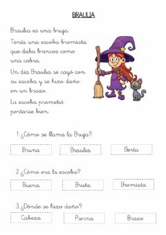 Interactive worksheet Br lectura