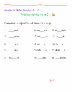 Ficha interactiva Use of C and Qu
