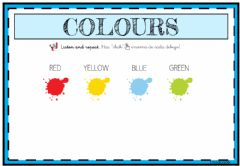 Interactive worksheet Colours - 3 años