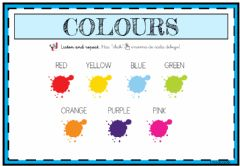 Interactive worksheet Colours - 4 años