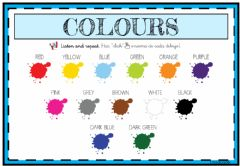 Interactive worksheet Colours - 5 años