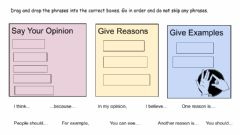 Interactive worksheet Phrases for Persuasive Writing