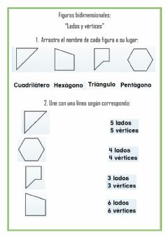 Interactive worksheet Figuras bidimensionales.