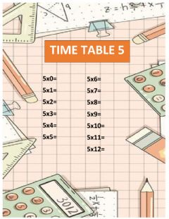 Interactive worksheet Time Table 5