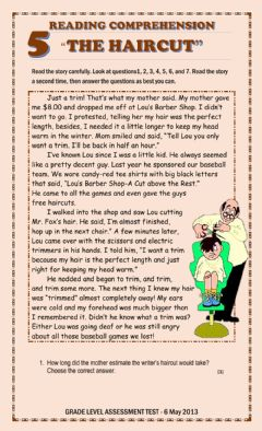 Interactive worksheet Reading Comprehension -The Haircut-