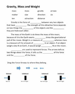 Interactive worksheet Gravity, Forces and Weight
