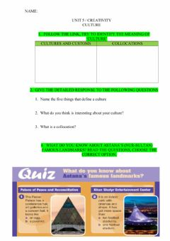 Interactive worksheet Culture