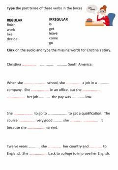 Interactive worksheet Past Simple Life Stories