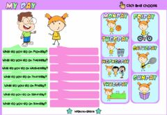 Interactive worksheet My Day Chart (Choose)