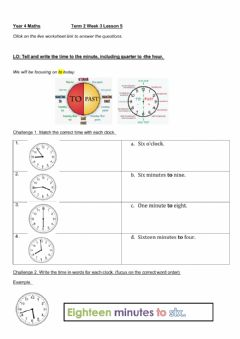 Interactive worksheet DIS Maths week 3 lesson 5