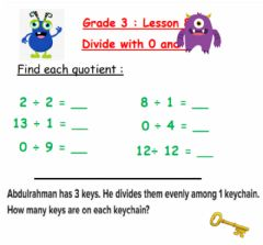 Interactive worksheet Divide with 0 and 1