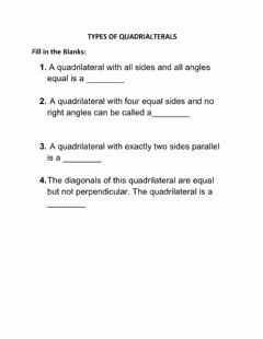 Interactive worksheet Types of Quadrilaterals