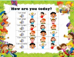 Interactive worksheet How are you?