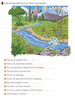 Interactive worksheet Natural Unit 3.4: Elements of ecosystems