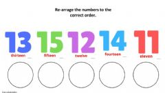 Interactive worksheet Numbers 1 to 15