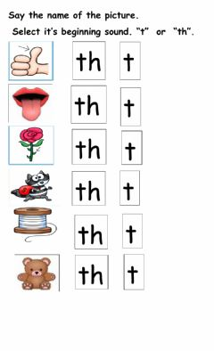 Interactive worksheet Digraph th