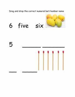 Interactive worksheet Numbers 5 and 6