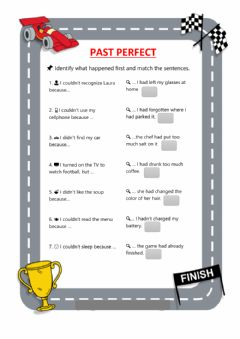 Interactive worksheet Past perfect